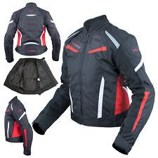 Moto Blouson Textile Femme Protections CE Sport Voyage Rouge