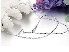 16-Calidad 18 in (approx. 45.72 cm) Barra de plata esterlina 925 Cadena Collar 41cms 46 cm N49 50