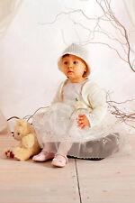 ABITO VESTITO elegante BATTESIMO femminuccia DAMIGELLA panna-avorio 62-92 cd 331