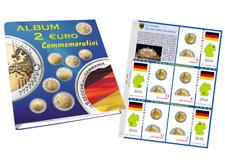 [NC] ABAFIL - FOGLI PER COLLEZIONE MONETE 2 EURO GERMANIA 5 ZECCHE 2006 - 2018