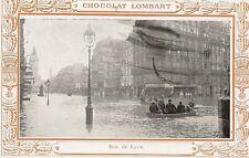 CPA CHOCOLAT LOMBART PARIS 1910 RUE DE LYON