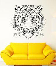 Wall Vinyl Sticker Tiger Roar Grin Predator Wild Cat Pattern Art Decor (ed407)