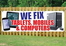 Noi fissiamo Tablet cellulari computer Banner Outdoor segno Impermeabile in PVC con occhielli