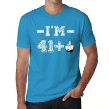 I'm 41 Plus Herren T-shirt Blau Geburtstag Geschenk 00446