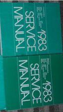 1983 CHRYSLER LEBARON Shop Repair Service Manual Set FACTORY 2 VOLUME SET OEM
