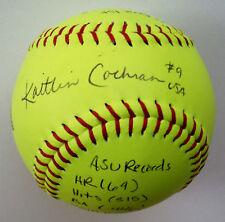 Kaitlin Cochran Signed Inscribed Statball Softball Auto w/ Many Inscriptions Gai