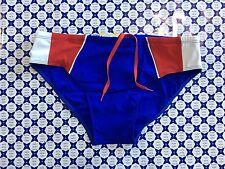 Costume slip COLMAR con Fasce Contrasto Piping - Bluette / Rosso - 6605
