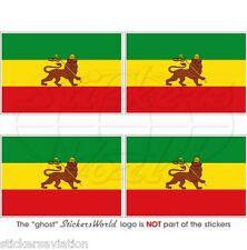 ÄTHIOPIEN Früher Flagge Lion of Judah Fahne 50mm Vinyl Sticker Aufkleber x4