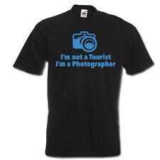 No soy un turista, yo soy un fotógrafo Cámara gracioso Camiseta Unisex para Hombre Mujer