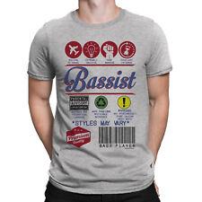 Mens BASSIST T-Shirt Music Product Label BASS GUITAR Musician Festival Christmas