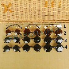 Dunkele Linse Runde Sonnenbrille John Lennon Sonnenbrille Sunnies Durchsichtig