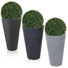 rotondo pianta vaso di fiori effetto pietra VIMINI artificiale palla GIARDINO