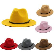 Vintage Felt Wide Brim Bowler Fedora Hat Winter Floppy Men &Women Cap Hat Trendy