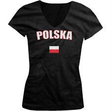 Bold Polska Country Flag - Poland Polish Pride Juniors V-neck T-shirt