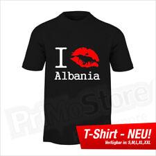 I Kiss Albania T-Shirt Albanien Kosovo Kosova Shqiptar Balkan S - 5XL