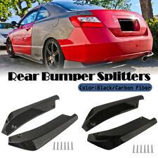 Universal Car Rear Bumper Spoiler Splitters Winglets Canard Guard Lip Diffuser