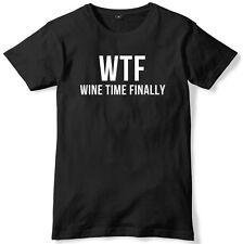 Tiempo de vino Wtf finalmente Camiseta Unisex Para Hombre Divertido