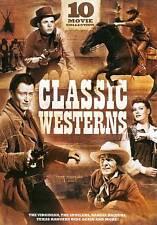 LOT OF 10 WESTERNS rare dvd Set SPOILERS - JOHN WAYNE / VIRGINIAN / TOMAHAWK