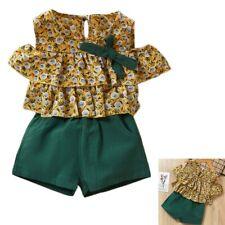 Kids Clothes Set Summer Style Girls Children Dandelion Print Chiffon Off S O3R3