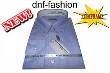 Camicia classica uomo Cool Man manica lunga collo Button down Celeste art 204