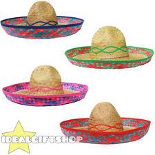 Mexicain sombrero chapeau paille pack wholesale lot déguisement western far west