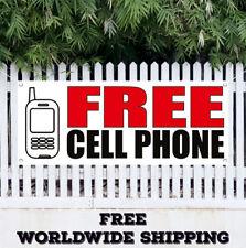 Free Cell Phone Advertising Vinyl Banner Flag Sign Full Partial Operating Ð¡all