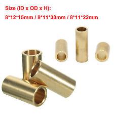 Brass Copper Sleeve Bearing Bushing Fit For 3D Printer 8mm Ultimaker Slider SLC