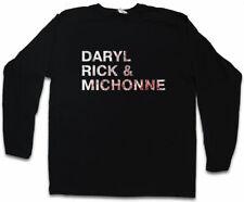 DARYL RICK & MICHONE LONG SLEEVE T-SHIRT The Walking Rick Grimes Dead Living