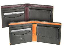 Delgado Cartera de cuero con doble pliegue de hombre Visconti para tarjetas de crédito, notas y monedas-AP62
