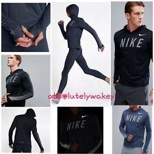 Nike Dry correr Flash Miler Reflectante Sudadera Con Capucha en Negro o Azul 858077