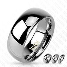 Tisten (Tungsten-Titanium) Glossy Plain Wedding Band Ring Size 5-14 4mm 6mm 8mm