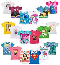 Girls Short Sleeve Disney Character T Shirt Top Various Various Kids Gift Size