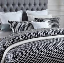 New 400TC 100% Cotton Duvet Quilt Doona Cover Set Chevron Pattern S D Q K