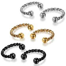 Fake piercing nariz tabique aro anillo piercing nariz plata oro herradura bcr