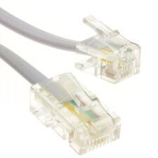 RJ11 Enchufe Macho a 4 Cable RJ45 Enchufe Macho Cable plano Plomo