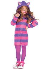 Brand New Cozy Cheshire Cat Alice in Wonderland Girls Child Costume