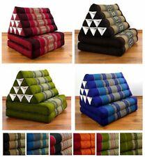 Foldable Thai Mat (2 Fold) Triangle Asia Cushion Headrest & 100% Kapok Filling