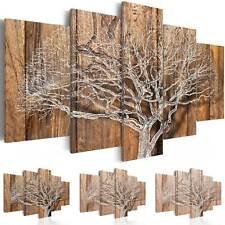Wandbilder xxl Baum Natur Holz 200x100 Leinwand Bilder Wohnzimmer b-C-0046-b-n