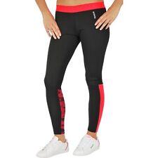 New Womens Ladies Reebok Leggings Bottoms Pants - Running Fitness Gym - Black