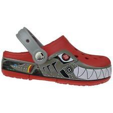 CROCS CrocsLights Robo Shark rot Clog Blinkschuhe NEU Gr.24-35