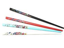 Rose Print Hair Sticks Long Hair Chopsticks Bun Holder Wooden Hair Stick Pins