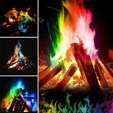 Mystical Fire Magic Tricks Coloured Flames Bonfire Sachets Fireplace Color Toys