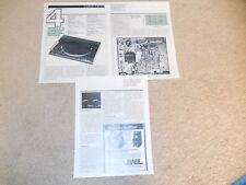 Technics Sl-Ql1 Turntable Review, 3 pgs, 1981, P22s