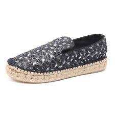 B3843 espadrillas donna ASH XEN scarpa nero/grigio scuro shoe woman