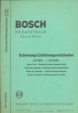 Bosch Ersatzteil-Liste Schwung-Lichtmagnetzünder 9/61