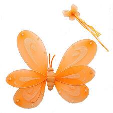ALI FARFALLA arancio + bacchetta set CARNEVALE accessori travestimento