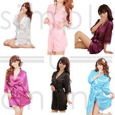 HOT sexy in pizzo di raso di seta, Vestaglia Accappatoio HOT FASHION Nightwear Kimono