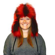 Glacier Wear Skunk Fur Russian Trooper Hat Dyed Red hts1038