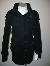 RUD by Rudsak Black Big Ribbed Collar Coat NWT $360
