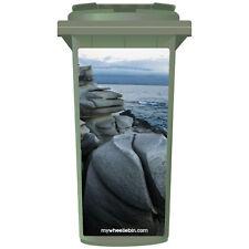 Rocas suave en un panel de Pegatinas litoral Wheelie Bin